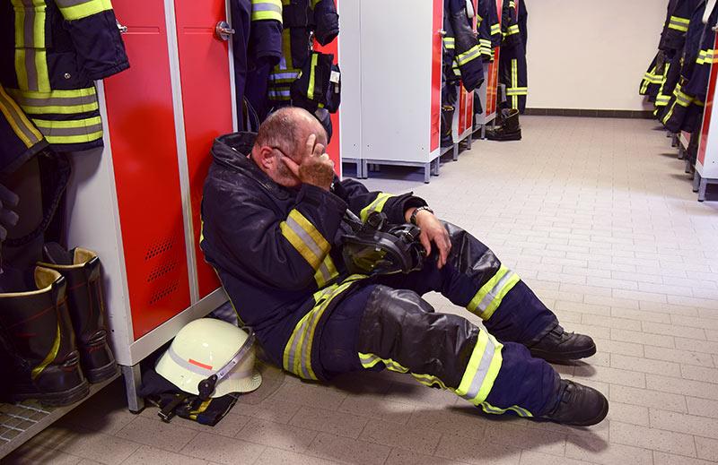 Fireman Under Work Related Stress